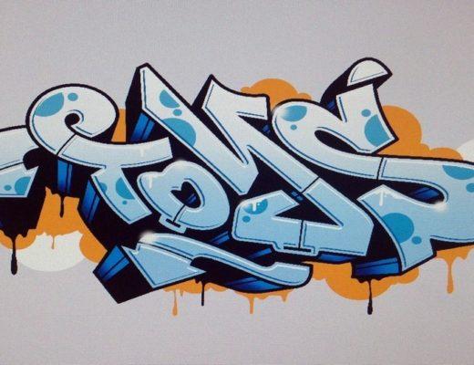 Мир граффити в скетчбуке