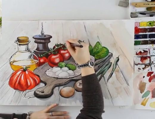 Food sketching - скетчинг еды