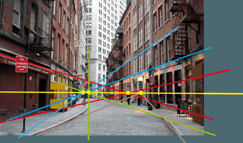 Как найти горизонт и точку схода любого изображения