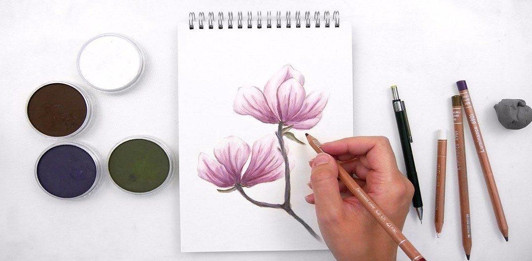 Руководство для работы с цветными карандашами