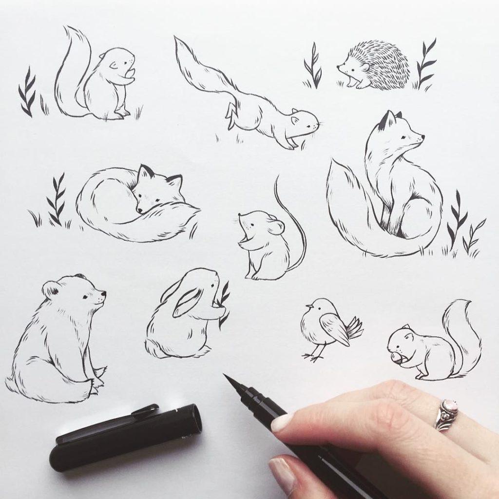 Наброски животных
