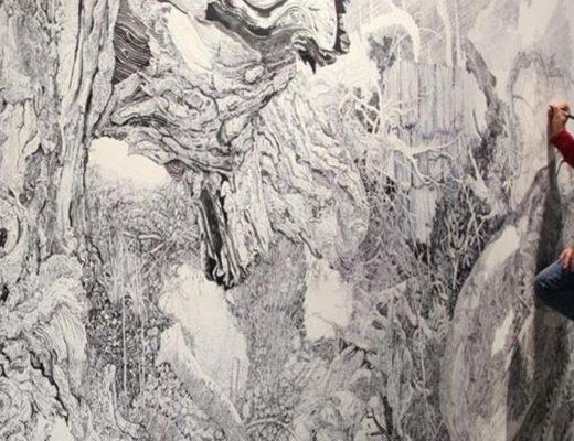 Рисующий художник